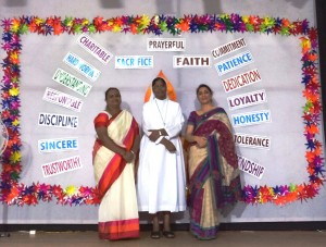Sister Anna Maria with teacher coordinators