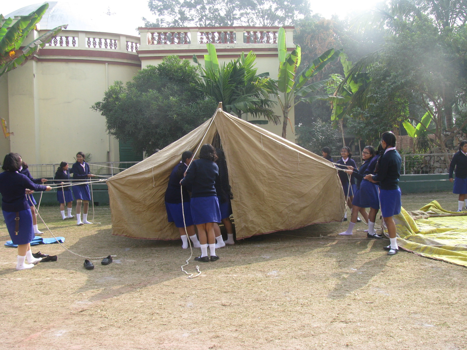 Guiding camp by Senior students